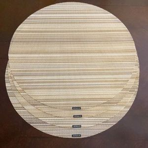 Chilewich round basketweave placemats